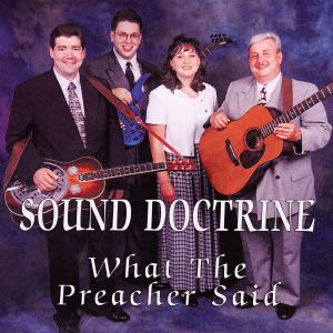 What The Preacher Said - CD Insert
